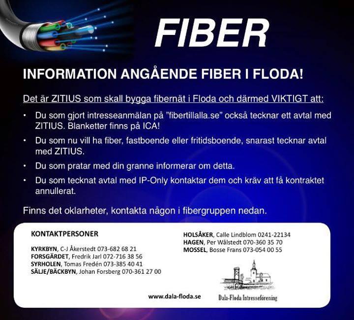 Information angående fiber!